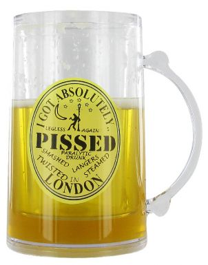 Pissed in London Tourist Souvenir Freezer Glass