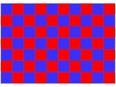 Red & Blue Checkered Flag