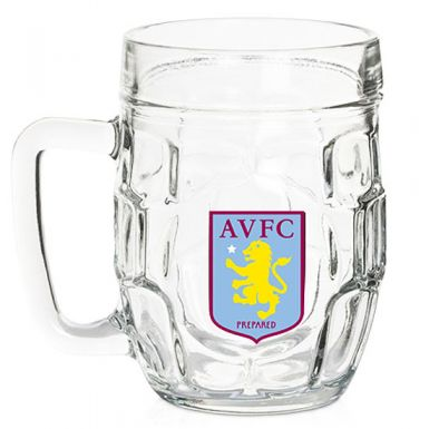 Aston Villa Crest Dimple Pint Glass