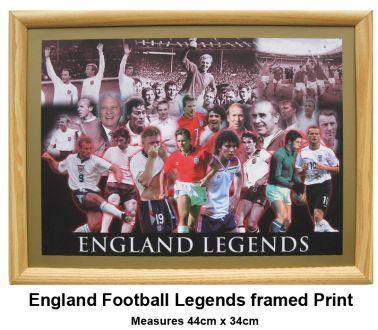 England Football Legends Framed Print