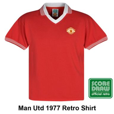 Man Utd 1977 Retro Shirt