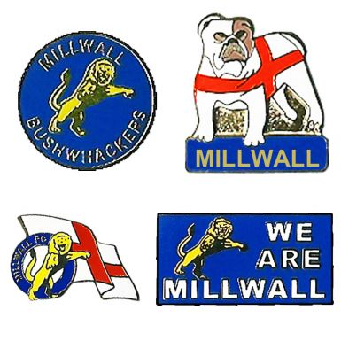 Millwall Badges Millwall-South London Pin Badges Millwall Lions Badges