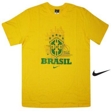 Brazil Football Crest T-Shirt by Nike