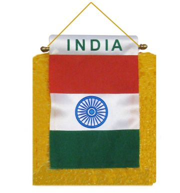 India Flag Mini Pennant for Cars