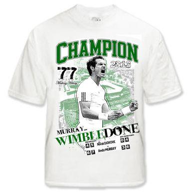 Andy Murray 2013 Wimbledon Champion T-Shirt
