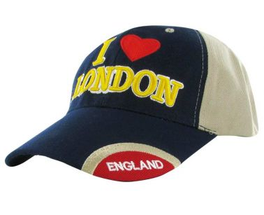 I Love London & England Baseball Cap