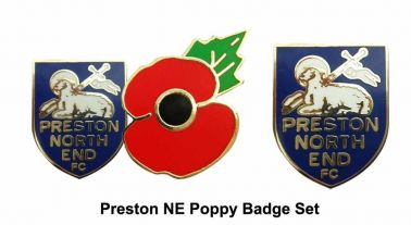 Preston NE Poppy Badge Set