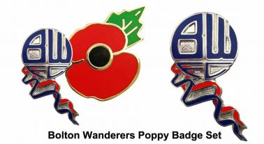 Bolton Wanderers Poppy Badge Set
