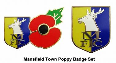 Mansfield Town Poppy Badge Set