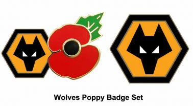 Wolves Poppy Badge Set