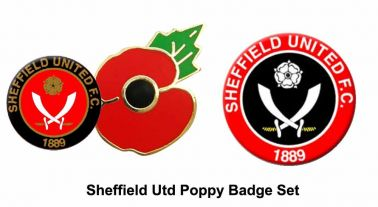 Sheffield United Poppy Pin Badges