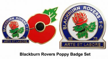 Blackburn Rovers Poppy Pin Badges