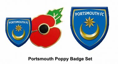 Portsmouth FC Poppy Badge Set