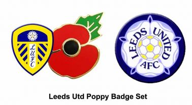 Leeds Utd Poppy Badge Set
