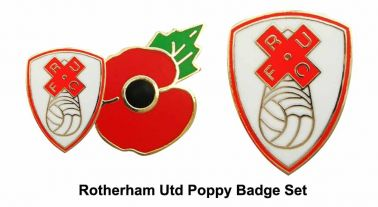 Rotherham United Poppy Badge Set