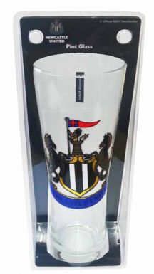 Newcastle Utd Crest Pint Glass