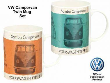 Volkswagen VW Samba Campervan Mug Set