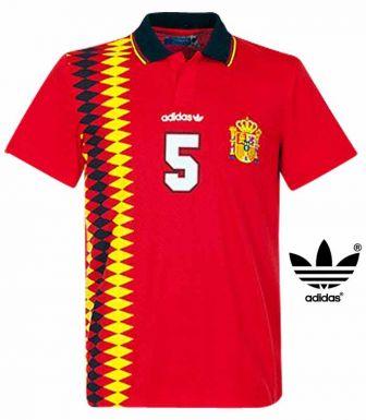Spain Football Polo Shirt by Adidas Originals