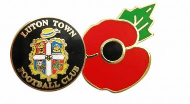 Luton Town Poppy Badge