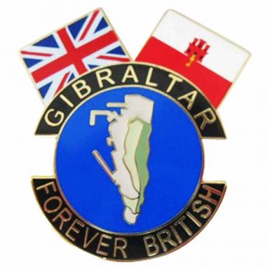 Gibralter is British Pin Badge