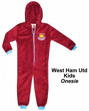 West Ham Utd Kids Fleece Onesie