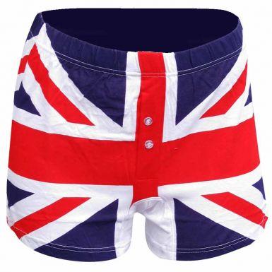 Mens Union Jack Boxer Shorts