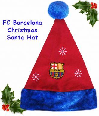 FC Barcelona Christmas Santa Hat