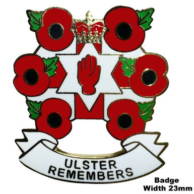 Poppy & Ulster Remembers Badge