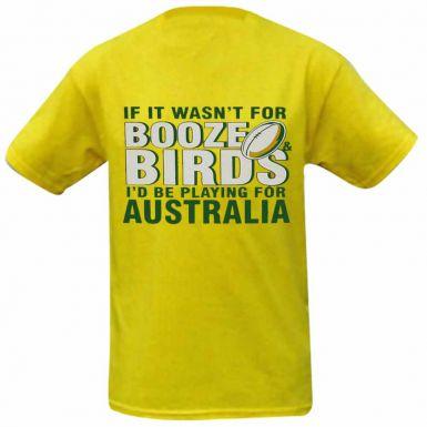 Australia Birds & Booze Rugby T-Shirt