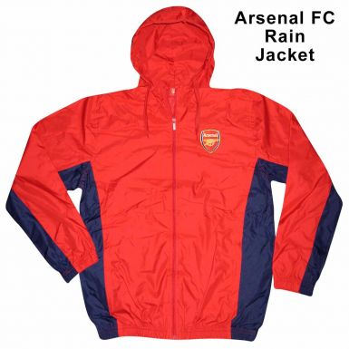 Arsenal FC Crest Hooded Rain Jacket