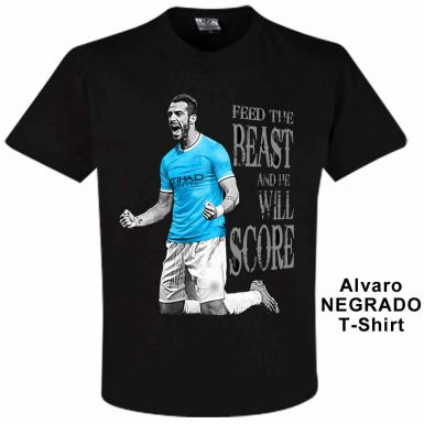 Man City & Alvaro Negredo T-Shirt