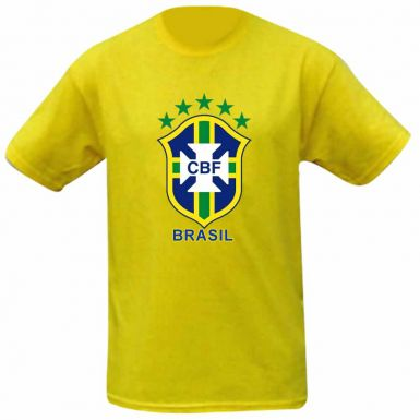 Brazil Football Crest Kids T-Shirt