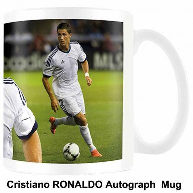 Cristiano Ronaldo & Real Madrid Autograph Mug