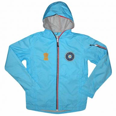 India Cricket Crest Hooded Rain Jacket