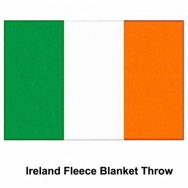 Ireland Flag Fleece Blanket Throw