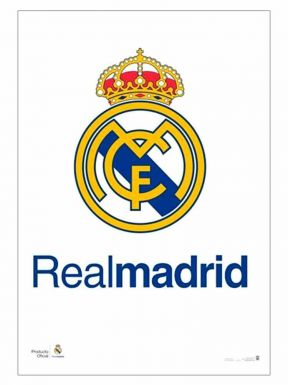 Real Madrid Crest Wall Poster