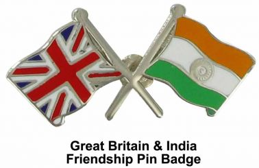 Great Britain & India Friendship Pin Badge