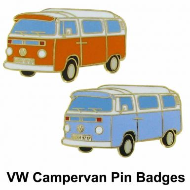 VW Campervan Pin Badges