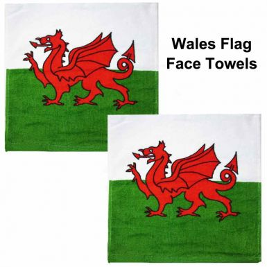 Wales Flag Face Towels
