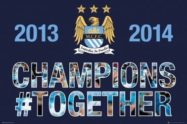 Manchester City 2014 Champions Poster