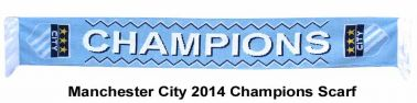 Manchester City 2014 Champions Scarf