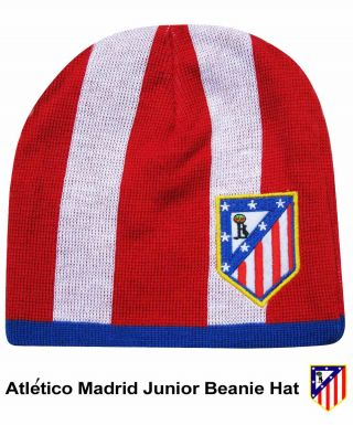 Atletico Madrid Crest Junior Beanie Hat