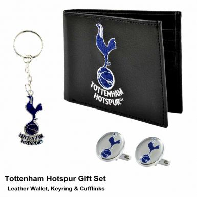 Tottenham Hotspur Boxed Gift Set of Wallet, Keyring & Cufflinks