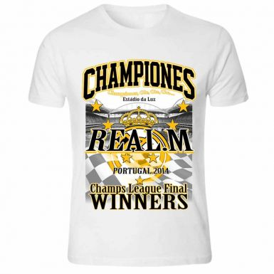 Real Madrid 2014 Champions League Winners T-Shirt