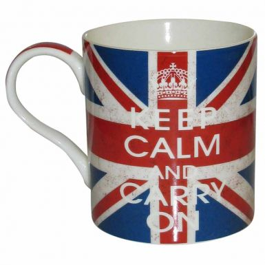 Keep Calm & Carry On Mug Union Jack Design