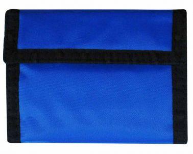 Blue Nylon Money Wallet with Velcro Flap