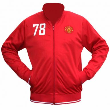 Manchester Utd Crest Tracktop for Training or Leisurewear