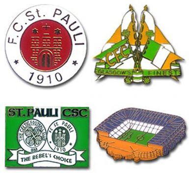 St Pauli & Celtic Badge Set