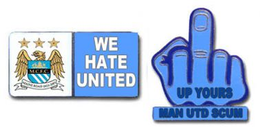 Man City Hate Man Utd Pin Badges Hate Man Utd Badges