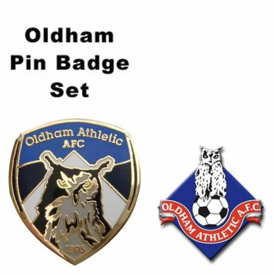 Oldham Athletic Pin Badges